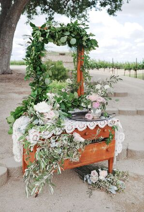 Vintage Vanity with Floral Garlands