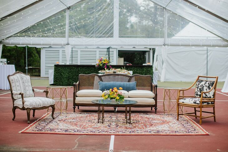 Whimsical Lounge Furniture at Tented Reception