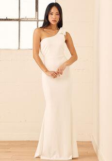 Lulus All Your Adoration White One-Shoulder Mermaid Maxi Dress Mermaid Wedding Dress