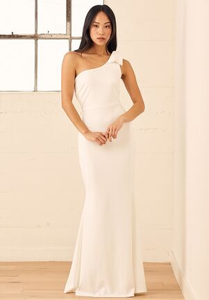 Lulus All Your Adoration White One-Shoulder Mermaid Maxi Dress Mermaid Wedding Dress