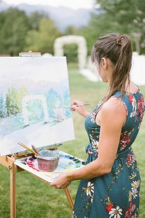 Live Ceremony Painter at Wedding in Vail, Colorado