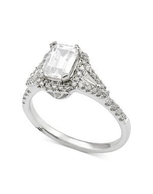 Macy's Fine Jewelry Glamorous Emerald Cut Engagement Ring