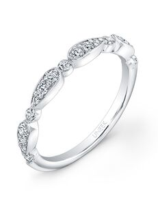 Uneek Fine Jewelry UWB014 White Gold Wedding Ring