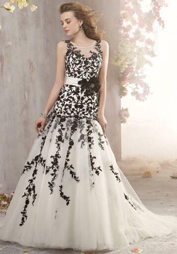 Black And White Wedding Dress.Black And White Wedding Dresses