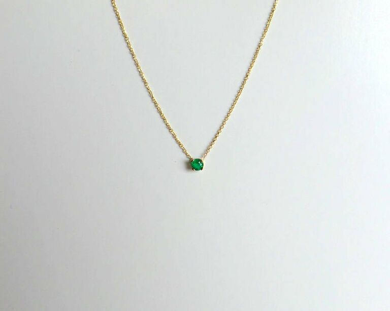 20th anniversary gift emerald necklace
