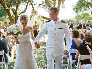 Military wedding recessional