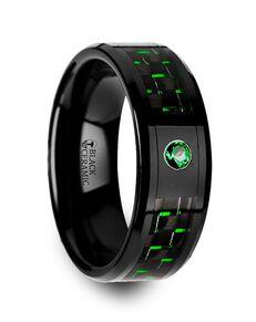 Mens Tungsten Wedding Bands W3904-BCGC Tungsten Wedding Ring