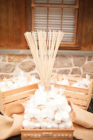 S'mores Kit and Sticks for Wedding Evening