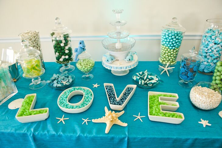 Bright Blue and Green Candy Bar