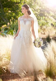 Essense of Australia D2295 A-Line Wedding Dress