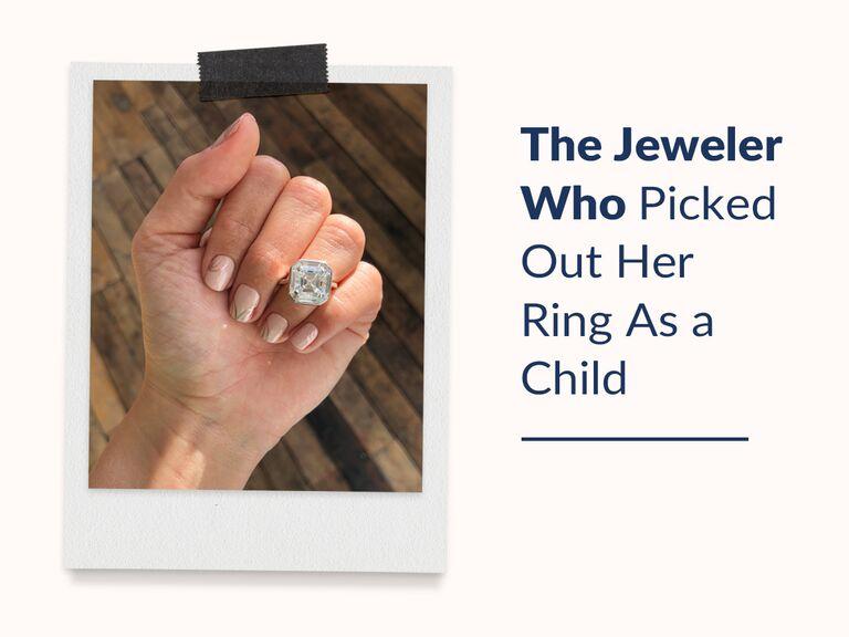 art-deco Asscher-cut diamond ring