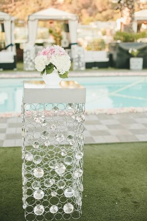 Sleek, Modern Poolside Cocktail Tables