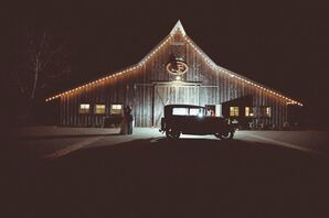 Vintage Barn Reception Setting
