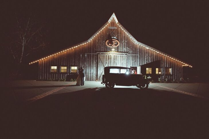 The couple was inspired by vintage pieces, like this classic car.
