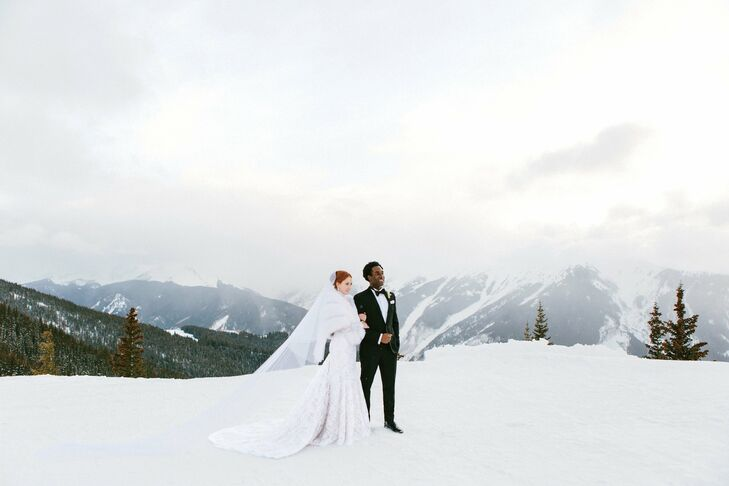 For their destination wedding, New Yorkers Josie and Kow headed to Aspen, Colorado--the scenic spot where he asked her to marry him the year before. G
