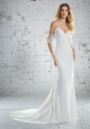 Morilee by Madeline Gardner/Voyage Kariotta/6883 Sheath Wedding Dress