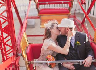 Heritage Park Historical Village in Calgary, Alberta, was the perfect location for Kelly (31 and a wedding c