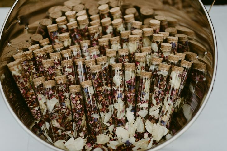 Dried Flower Petals in Glass Tubes