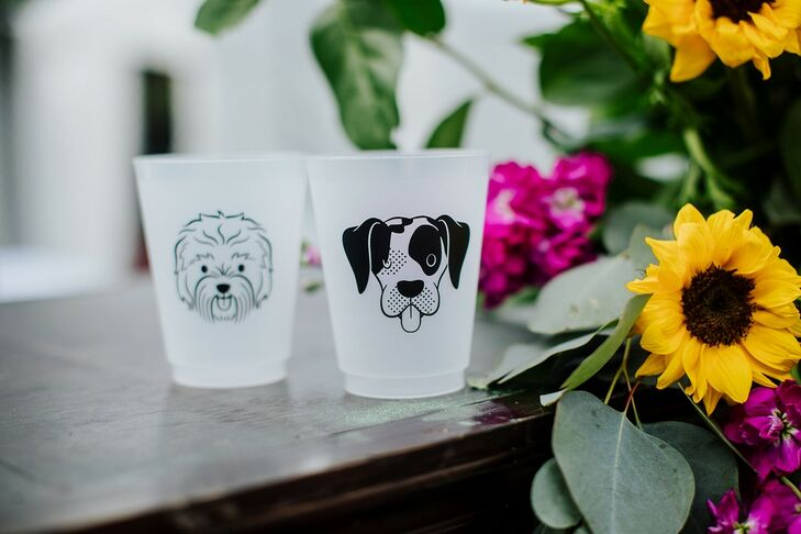 Personalized Cups with Dog Prints
