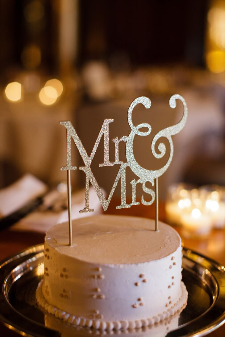 Metallic Mr. and Mrs. Cake Topper