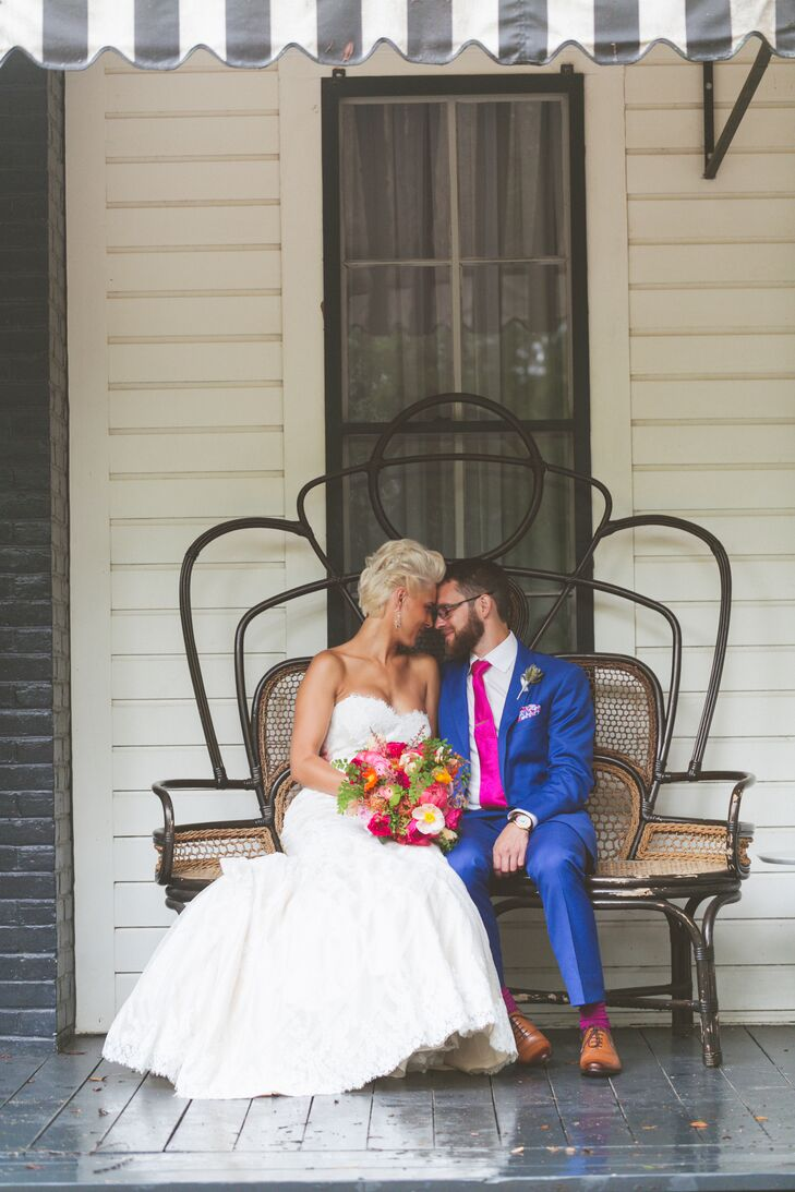 Jill Love (28 and a bridal consultant at Blush Bridal Lounge) and Dobi Jurkovi (34 and an engineering manager) met and started their lives together in