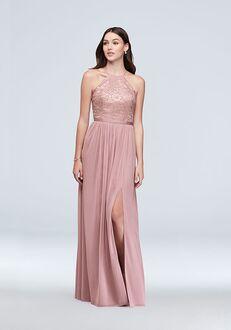 David's Bridal Collection David's Bridal Style F19608M Halter Bridesmaid Dress