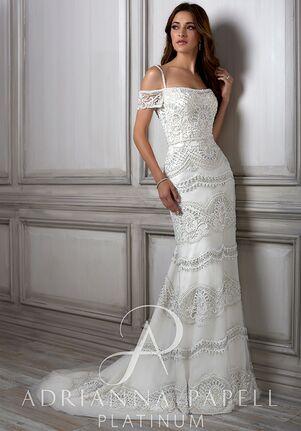 17de9fe0d2a Adrianna Papell Platinum Viola Sheath Wedding Dress