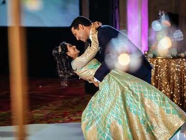 Indian cultural wedding bride and groom
