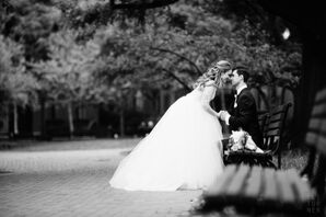 Bride and Groom at Their Classy, Spring Wedding in Washington, DC