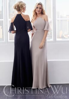 Christina Wu 22829 Halter Bridesmaid Dress