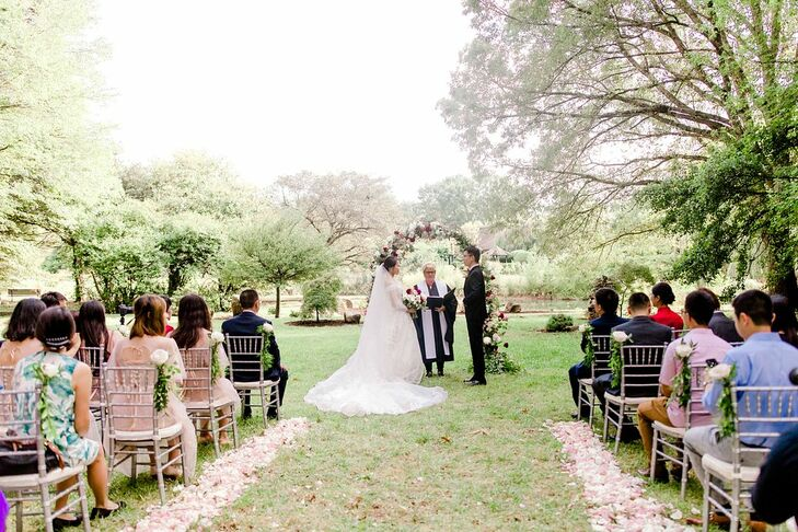 Outdoor Ceremony for Wedding at the University of Illinois