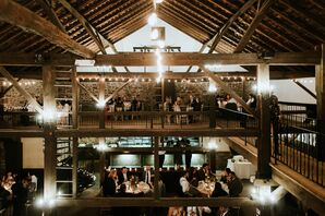 Rustic Reception at Barn on Bridge in Collegeville, Pennsylvania