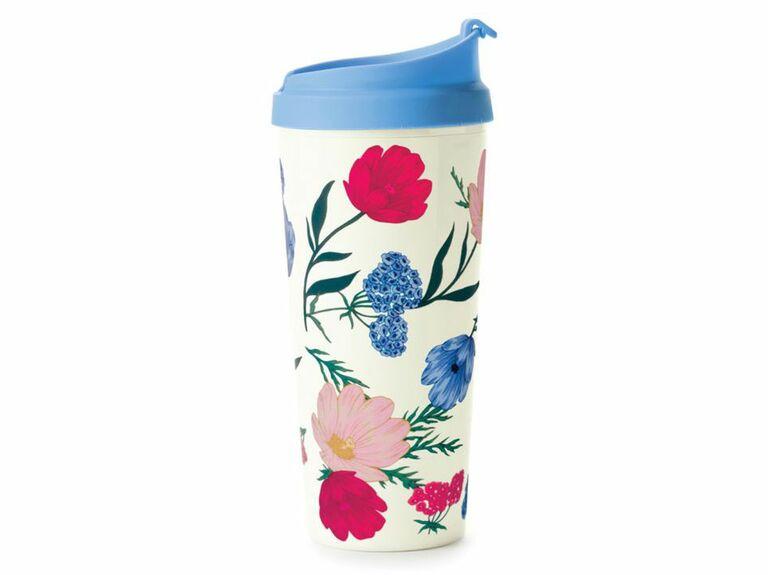 floral thermal mug