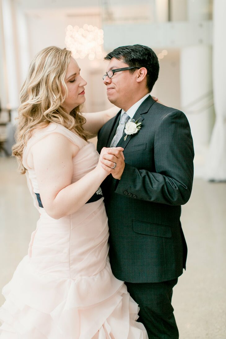 """Mary and Jav's first dance was to """"3 Rounds and a Sound"""" by Blind Pilot, a band they have seen in concert many times. """"This song resonates because it speaks to finding someone who really knows you, sees your flaws but still accepts you for who you are, and challenges you to become who you can be,"""" Mary says."""
