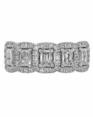 Christopher Designs N19R-EC100 White Gold Wedding Ring