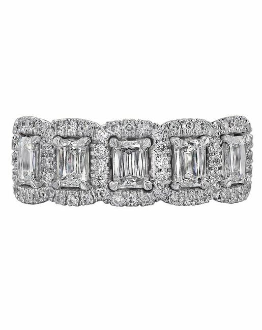 Christopher Designs N19R-EC100 White Gold Wedding Ring