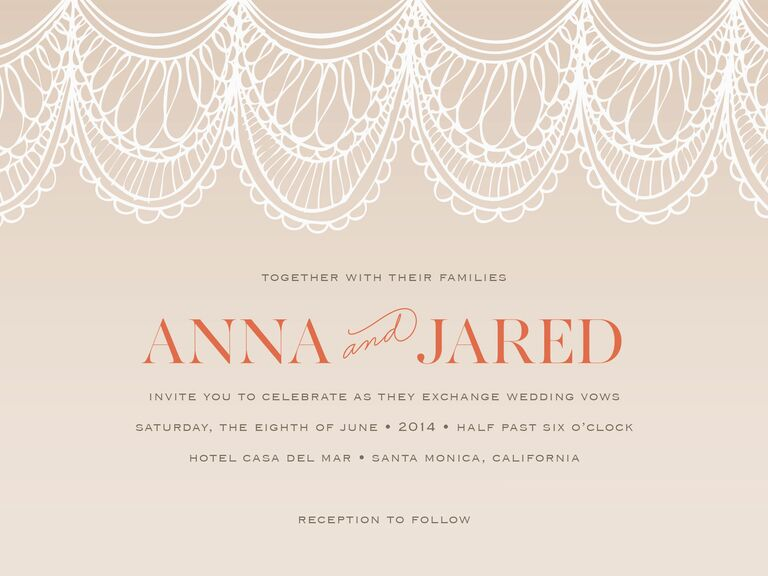 minted lace printable wedding invitation