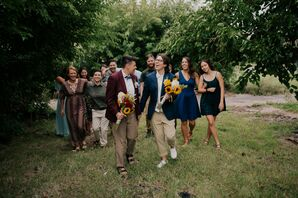 Wedding Party Portraits in Detroit, Michigan