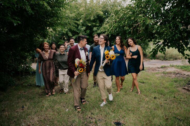 Wedding Party Portraits in Detroit, Michigan
