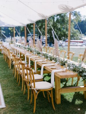 Tented Reception at Basin Harbor Club in Vergennes, Vermont