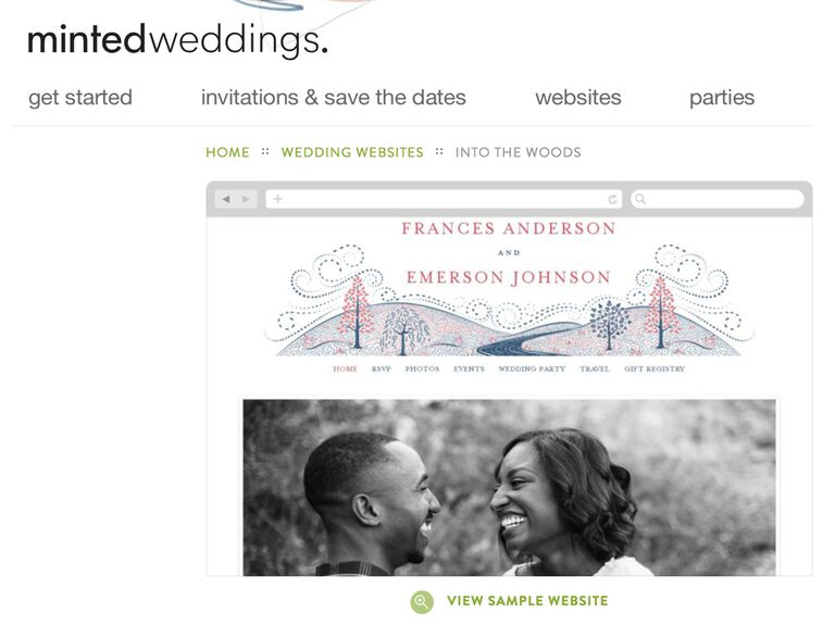 Minted Wedding Website templates