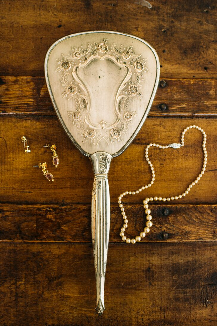 Cinderella Inspired Mirror And Heirloom Jewelry