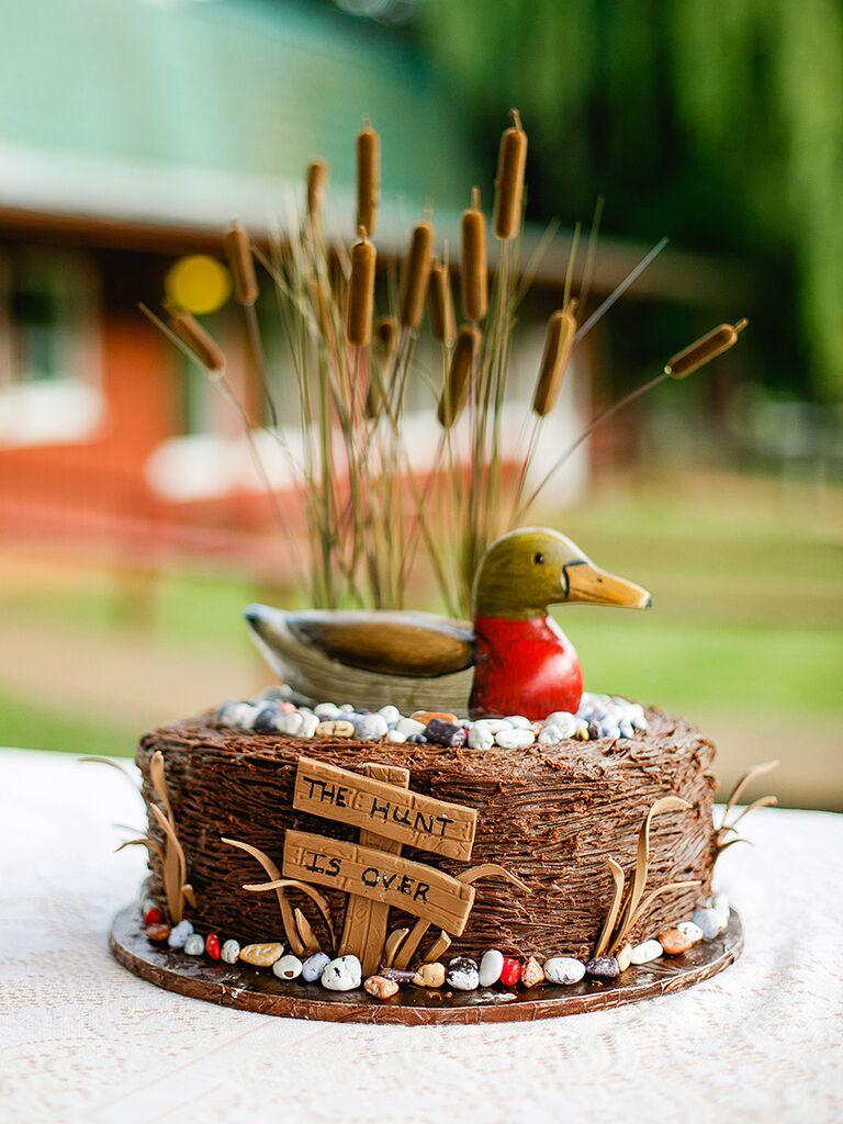 Hunting themed groom's cake idea