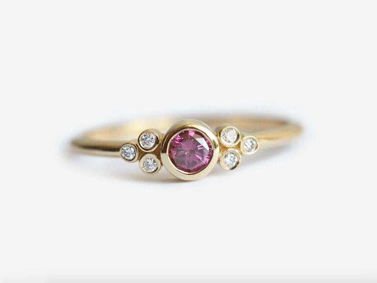 Capucinne pink diamond engagement ring