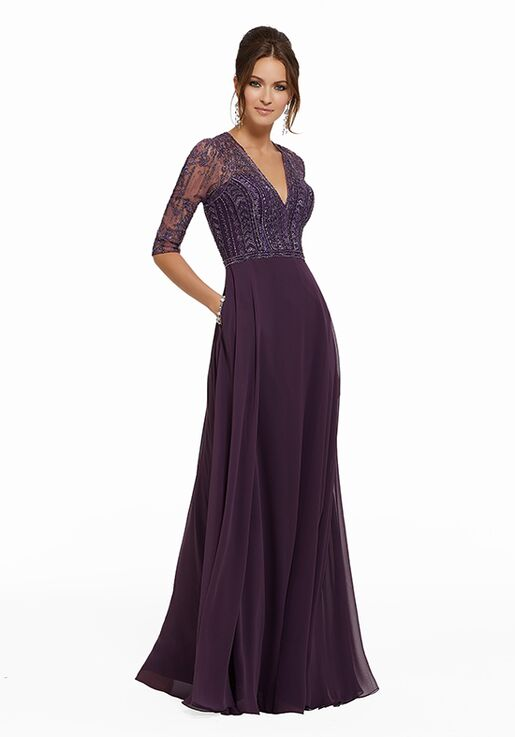 MGNY 72018 Purple Mother Of The Bride Dress