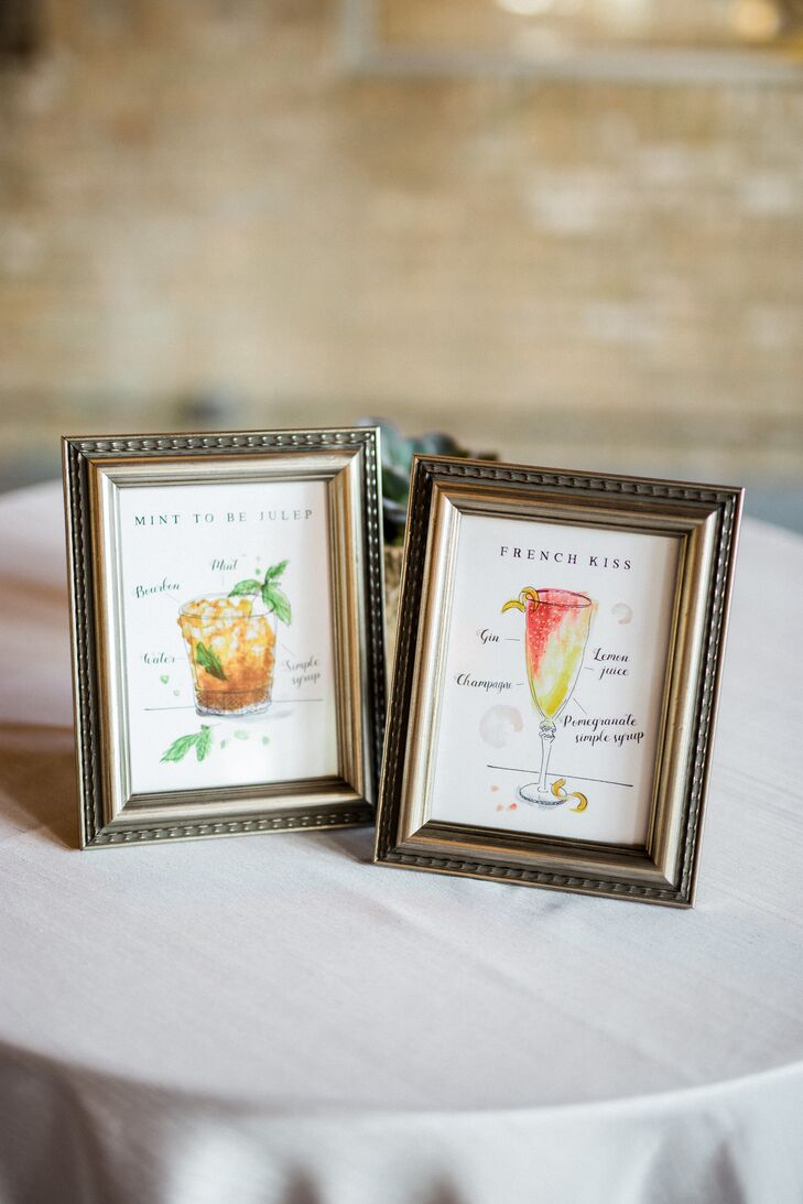 Lauren Monaco Illustrated Signature Cocktail Signs