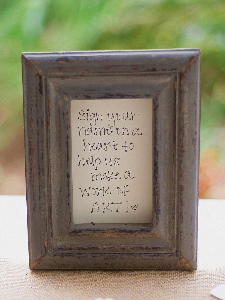 Guestbook DIY sign-in framed sign
