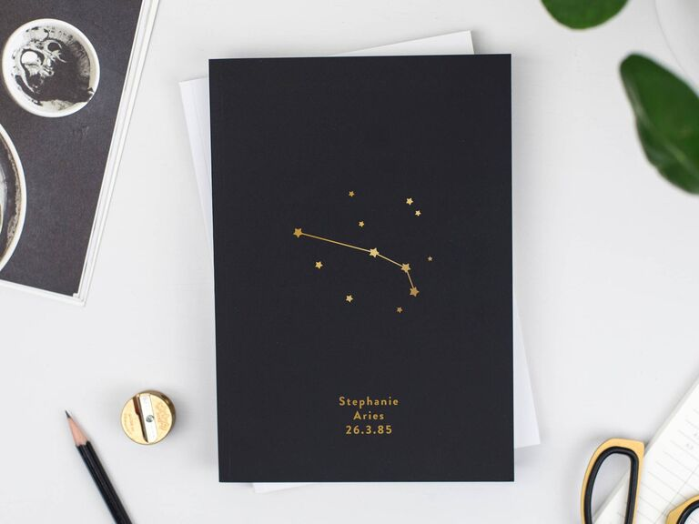 Bespoke zodiac journal sister-in-law gift