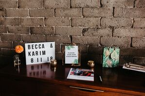 Simple Signs and Tropical Guest Book