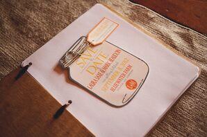 Mason Jar Save-the-Date